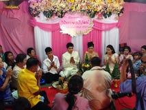 NAKORNRACHASEEMA, THAILAND-FEBRUARY 15日2014年:婚姻 图库摄影