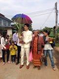 NAKORNRACHASEEMA, THAILAND-FEBRUARY 15日2014年:婚姻 免版税图库摄影