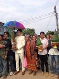 NAKORNRACHASEEMA, THAILAND-FEBRUARY 15日2014年:婚姻 库存图片