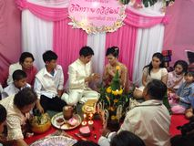 NAKORNRACHASEEMA, THAILAND-FEBRUARY 15, 2014: Marriage Stock Images