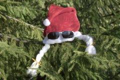 Nakrętka Święty Mikołaj i punkty Fotografia Royalty Free