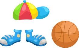 Nakrętka - buty - koszykówka wektor royalty ilustracja