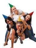 nakrętki błaź się śmiesznych ludzi Fotografia Royalty Free