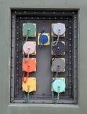 Nakrętki dla pieczętować i cysternowi podłączeniowi interfejsy z kablami Zdjęcia Royalty Free