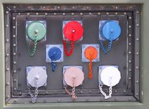 Nakrętki dla pieczętować i cysternowi podłączeniowi interfejsy z kablami Fotografia Stock