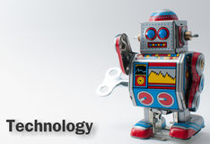 Nakręcany Zabawkarski robot Zdjęcie Royalty Free