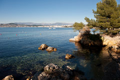 Nakrętka de Antibes - francuski Riviera Obrazy Stock