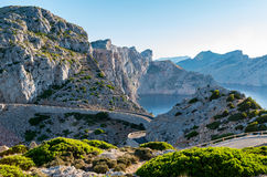 Nakrętka Formentor Mallorca, Hiszpania Zdjęcia Royalty Free