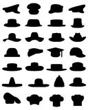 Nakrętki i kapelusze ilustracja wektor