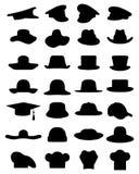 Nakrętki i kapelusze ilustracji