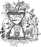 Nakreśleń doodles: CZAS Zdjęcie Royalty Free