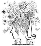 Nakreśleń doodles: zamieszanie Fotografia Royalty Free