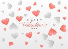 Nakreśleń serca deseniują tło dla valentine ` s dnia Zdjęcie Royalty Free