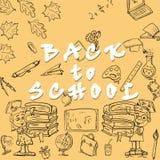 Nakreślenia illustration_2_on szkoły temat, projekt szkolni tematy Zdjęcia Royalty Free
