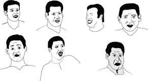 Nakreślenia o emocjach mężczyzna Obraz Stock