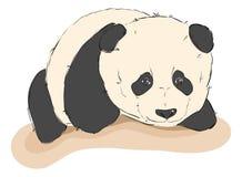 Nakreślenie śliczna panda ilustracji