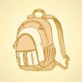 Nakreślenie śliczny szkolny plecak Zdjęcie Stock