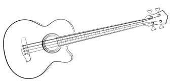 Nakreślenie Basowa gitara ilustracja wektor