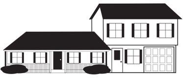 nakreślenie domowy równy rozłam ilustracja wektor