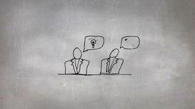 Nakreślenie dwa ludzie opowiadać ilustracji