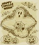 Nakreślenie Halloween materiał Zdjęcie Stock