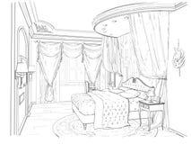 Nakreślenie klasyczny wnętrze Zdjęcie Royalty Free