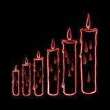Nakreślenie kroka świeczki ilustracja Fotografia Royalty Free