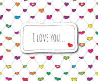 Nakreślenie miłości karta Zdjęcie Royalty Free