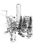 nakreślenie miastowy ilustracji