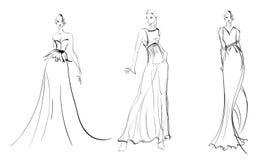 nakreślenie mod dziewczyny royalty ilustracja