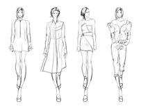 nakreślenie mod dziewczyny ilustracji
