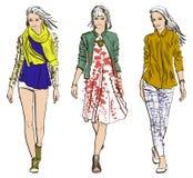 Nakreślenie moda modele royalty ilustracja