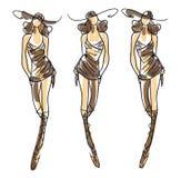Nakreślenie mody pozy Fotografia Royalty Free