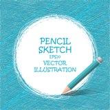 Nakreślenie ołówkowy rysunek Wektorowi doodles Fotografia Royalty Free