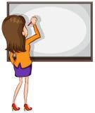 Nakreślenie pedagoga writing Zdjęcie Stock