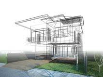 Nakreślenie projekt dom royalty ilustracja