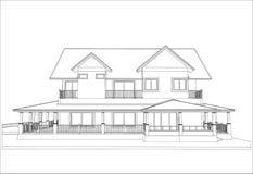 Nakreślenie projekt dom, wektor ilustracja wektor