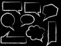 Nakreślenie rozmowy bąble Zdjęcie Royalty Free