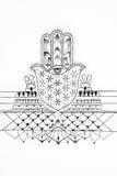 Nakreślenie sardela na białym tle Zdjęcia Royalty Free