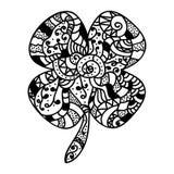 Nakreślenie stylowa szczęsliwa koniczyna Obraz Royalty Free