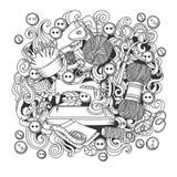 Nakreślenie wektorowa ręka rysująca przedmiot kreskówki Ręcznie Robiony doodle Obrazy Royalty Free