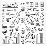 Nakreślenia doodle set ikony Fotografia Stock