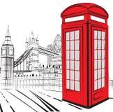 Nakreślenia Londyn miasto Obraz Stock