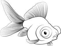 Nakreślenie akwarium ryba, wektorowa ilustracja Zdjęcia Royalty Free