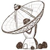 Nakreślenie astronomiczny satelitarny styl Obraz Royalty Free