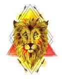 Nakreślenie ilustraci lew Zdjęcie Royalty Free