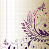 Nakreślenie kwiat Obrazy Royalty Free