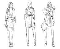 NAKREŚLENIE. mod dziewczyny Zdjęcie Stock