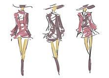 Nakreślenie mody pozy Obraz Stock