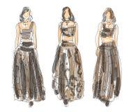 Nakreślenie mody pozy Zdjęcia Stock